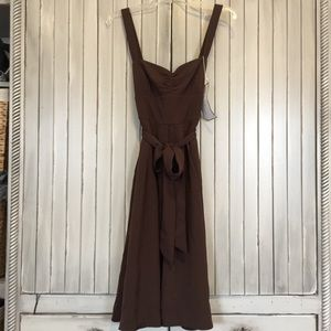 NWT J. Crew Brown Silk Special Occasion Dress 6